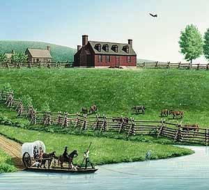 Ferry Farm, Artist's rendering by L. H. Barker © 2008