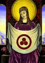 """Madonna Oriflamma"" - Nicholas Roerich"