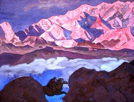 "Nicholas Roerich - ""He Who Hastens"""
