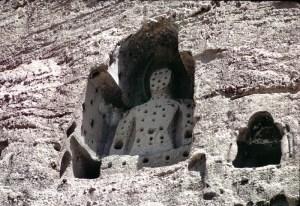 Bullet-riddled Bamiyan Buddha