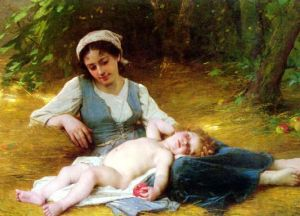 Perrault - Jeune-Mere-Et-Enfant-Endormie