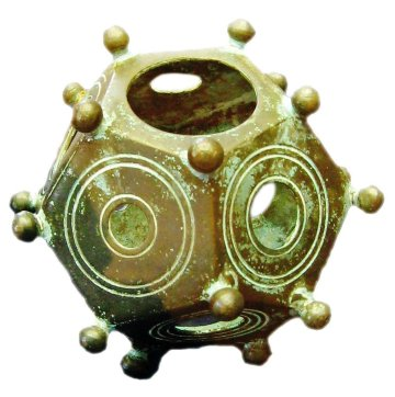 Photograph of a Roman dodecahedron from Wikipedia.