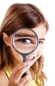 Girl-magnifying-glass