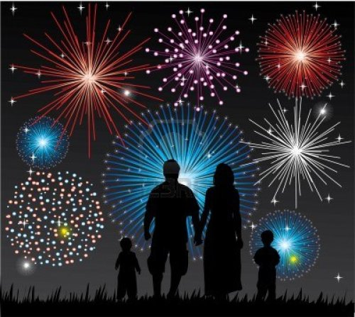 happy-family-watching-fireworks