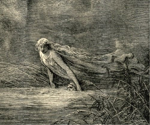 Dante And The River Of Lethe, By Gustave Dore